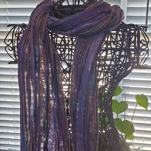 Women's multi-colored thin scarf